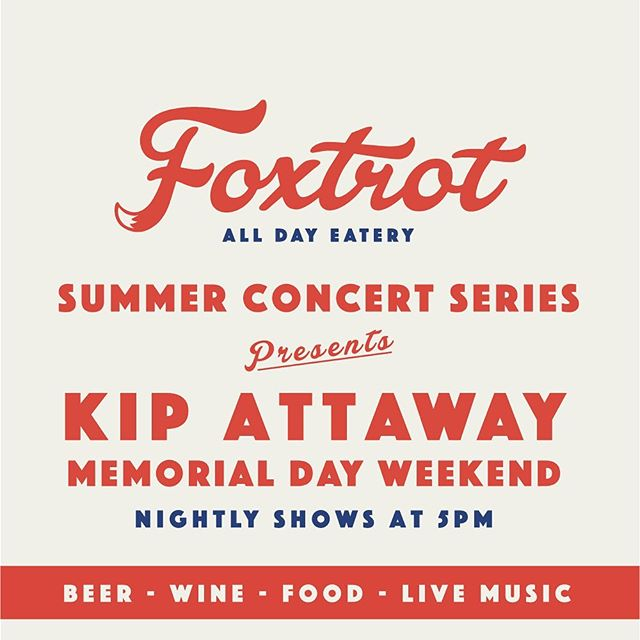 We're excited to kick off the Summer of live music with our good friend Kip Attaway next weekend, playing live shows through Memorial Day. Come join us and 🍻 to Summer 2019! #bozeman #montana #local #music #fun #feelgoodfastcasual