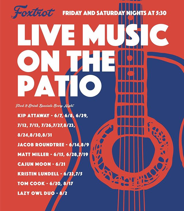 Let's get this party started! Join us on the patio for our live concert series this summer featuring some of Bozeman's favorite local artists. @jacobrountree and @mattmerrillmiller kick it off this weekend at 5:30pm. 🍻😎🌻🇺🇸