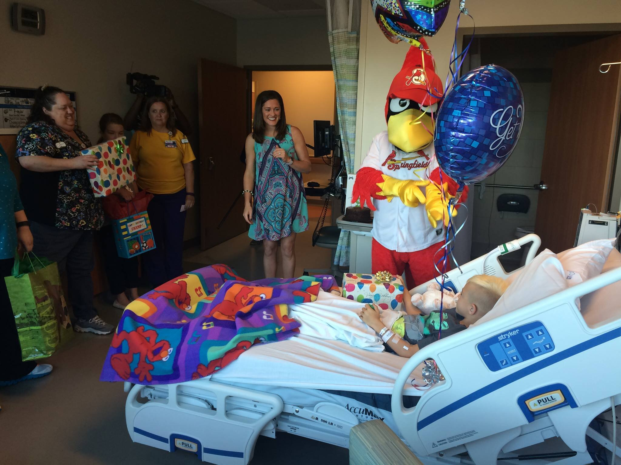st louis cardinals birthday in hospital