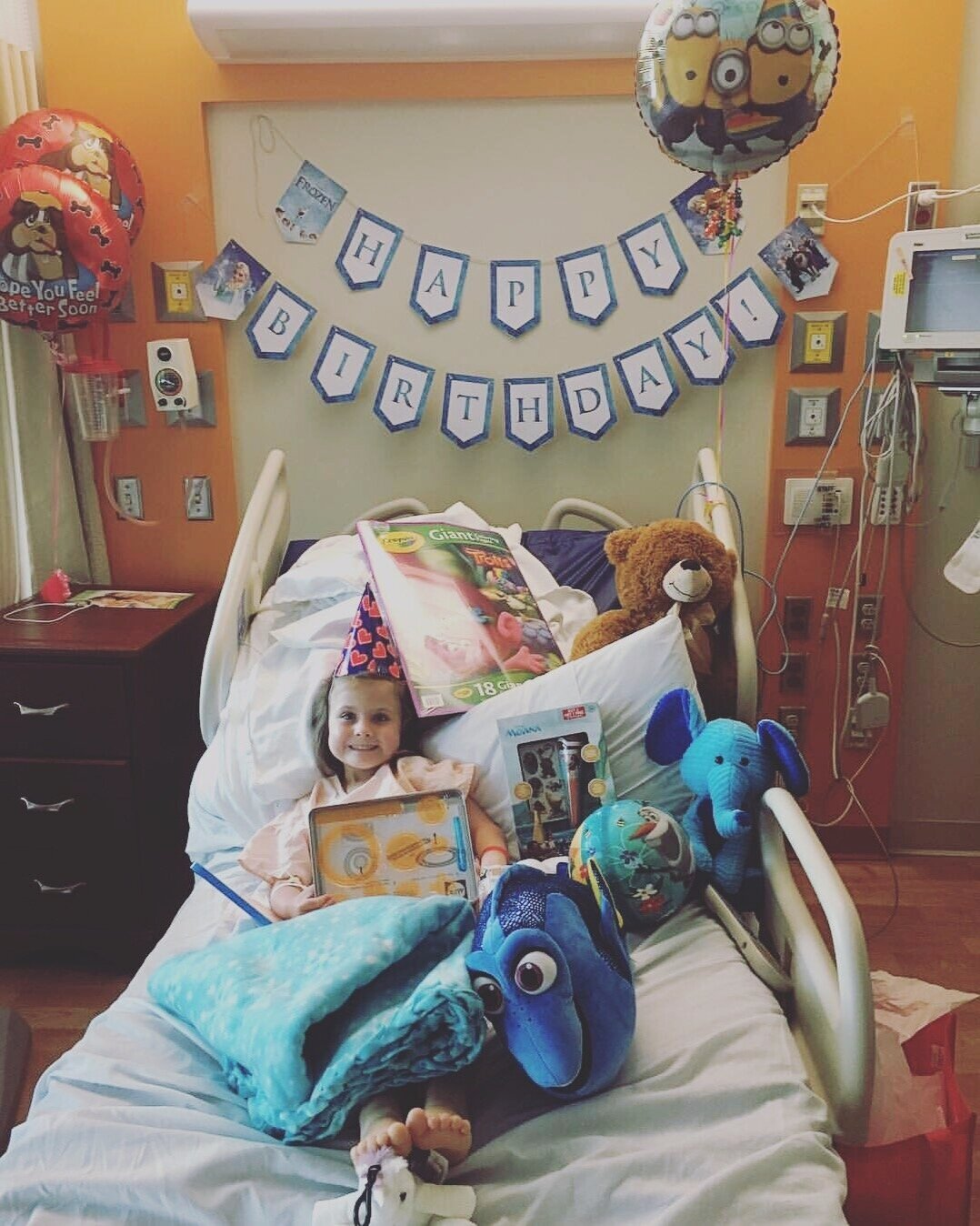 birthday party for kids in the hospital