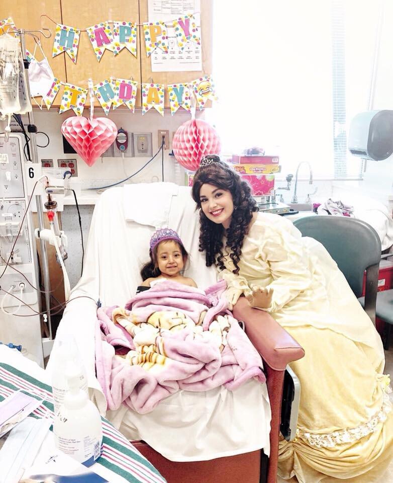 princess who visits hospitals