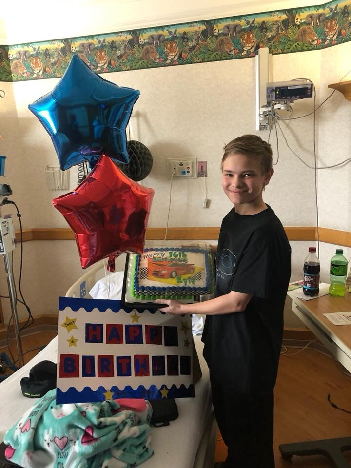 kids birthday party in the hospital