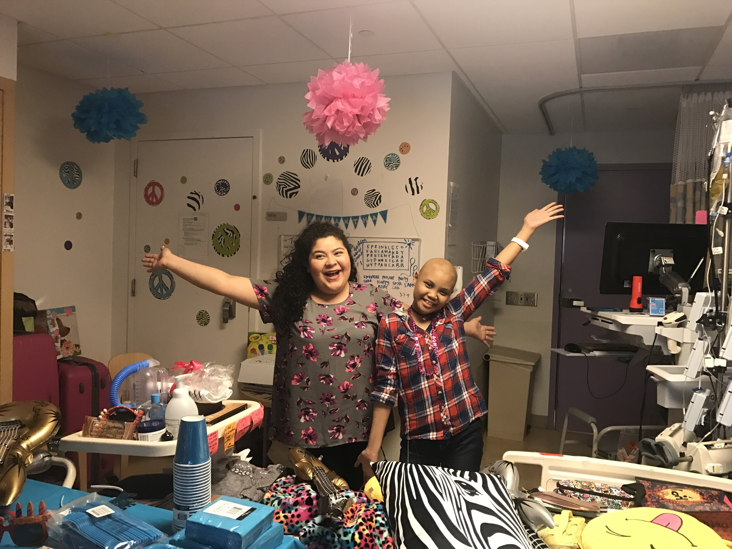 birthday party in the hospital for a teen