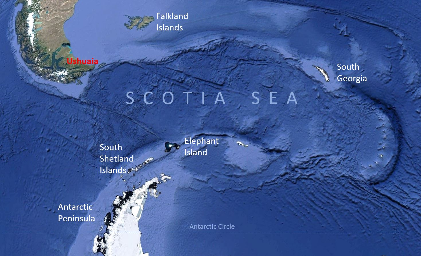 The development of the Scotia Sea (plate) gradually opened the Drake Passage between South America and Antarctica beginning approximately 30-40 million years ago, allowing the formation of the Antarctic Circumpolar Current, thereby isolating the southern icy continent from warmer ocean waters.