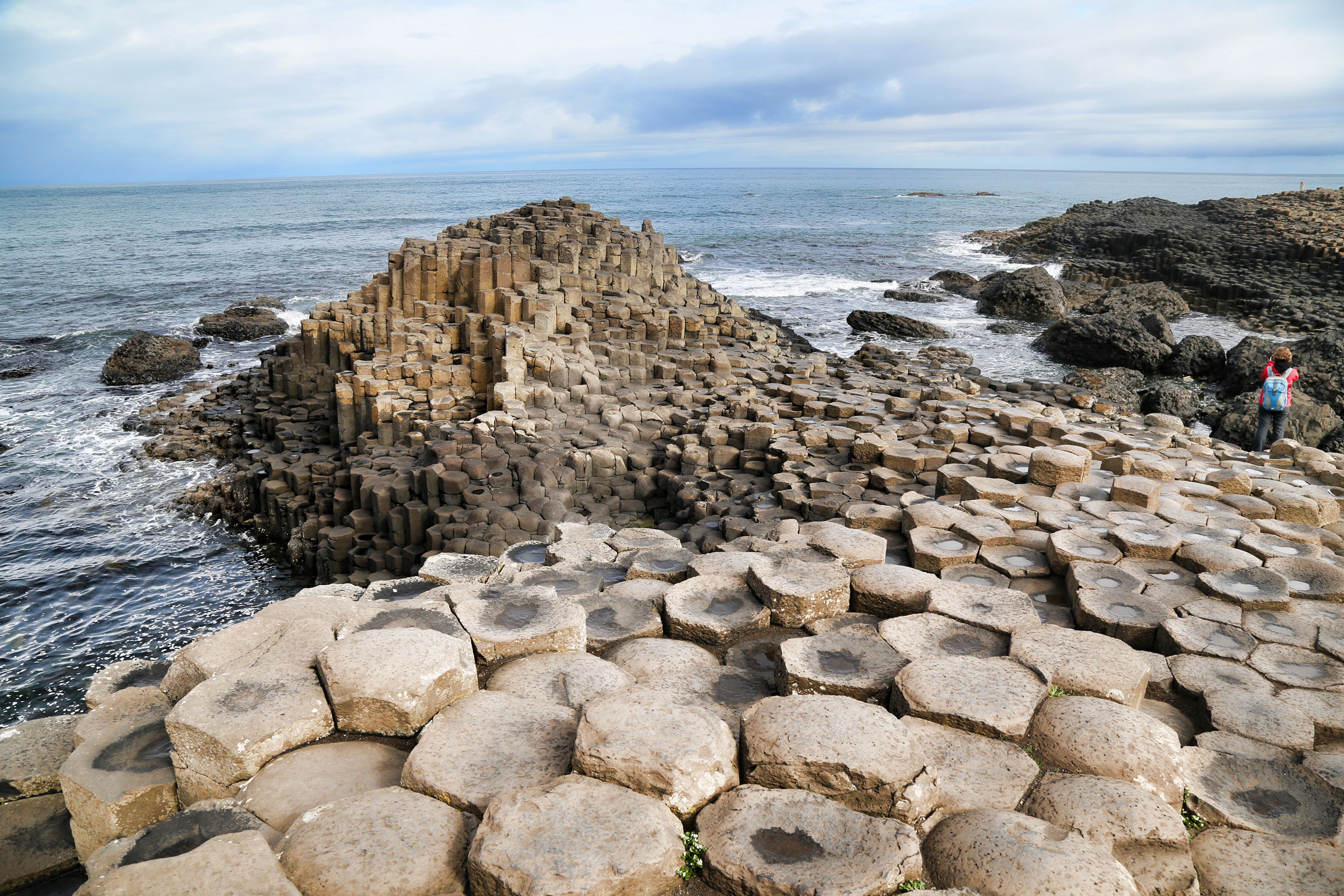 Columnar jointed basalt at Giant's Causeway, northern Ireland.