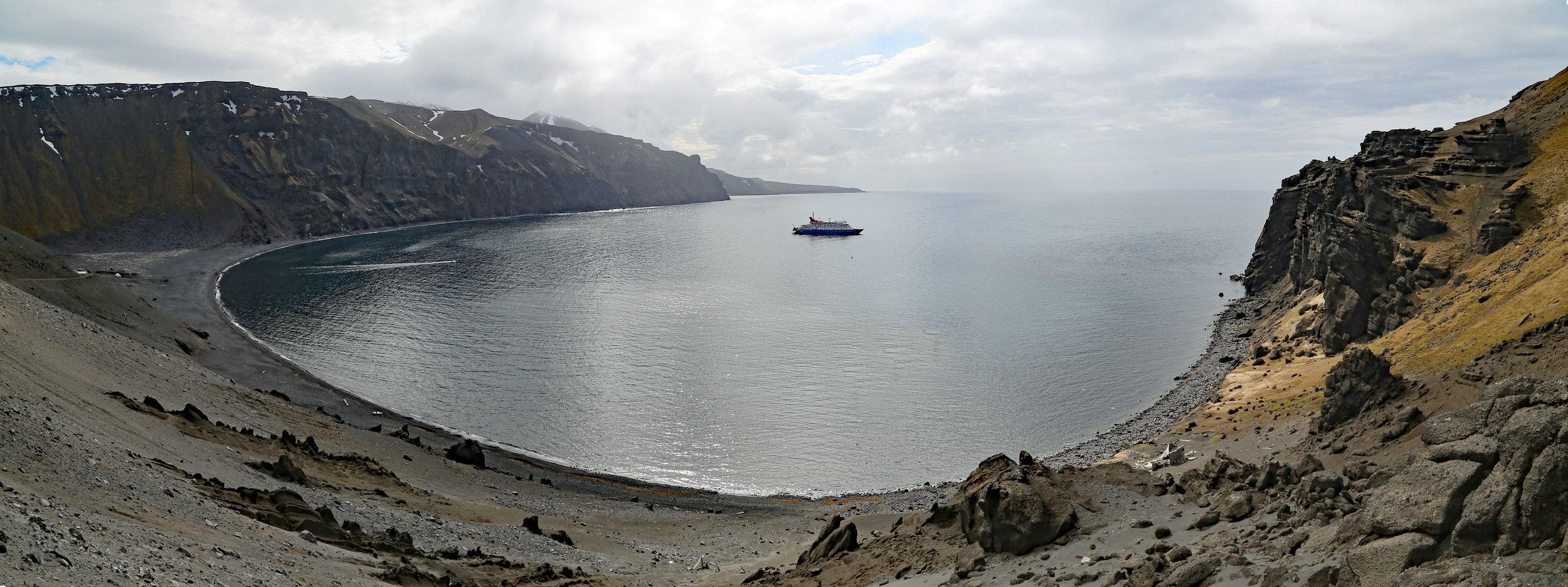 M/V Sea Spirit  at anchor.