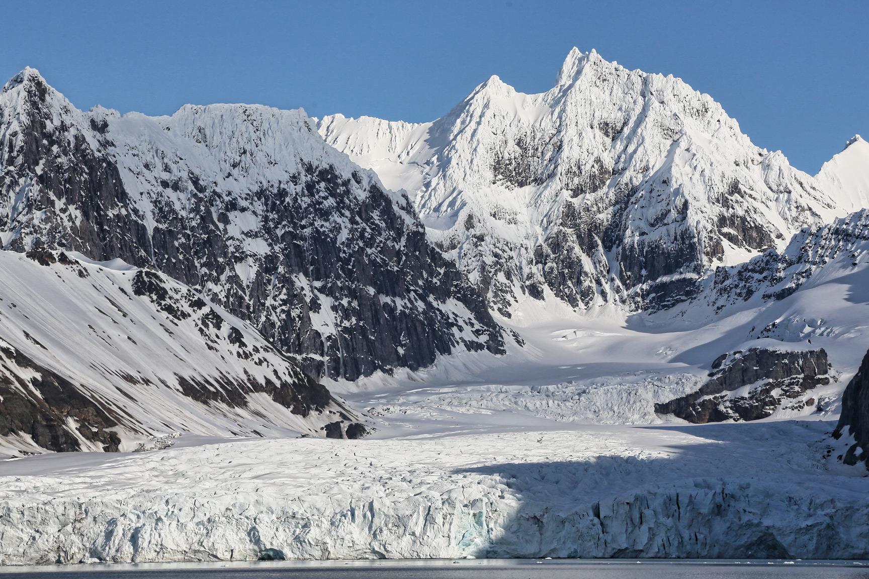 Tidewater glacier in Bellsund.