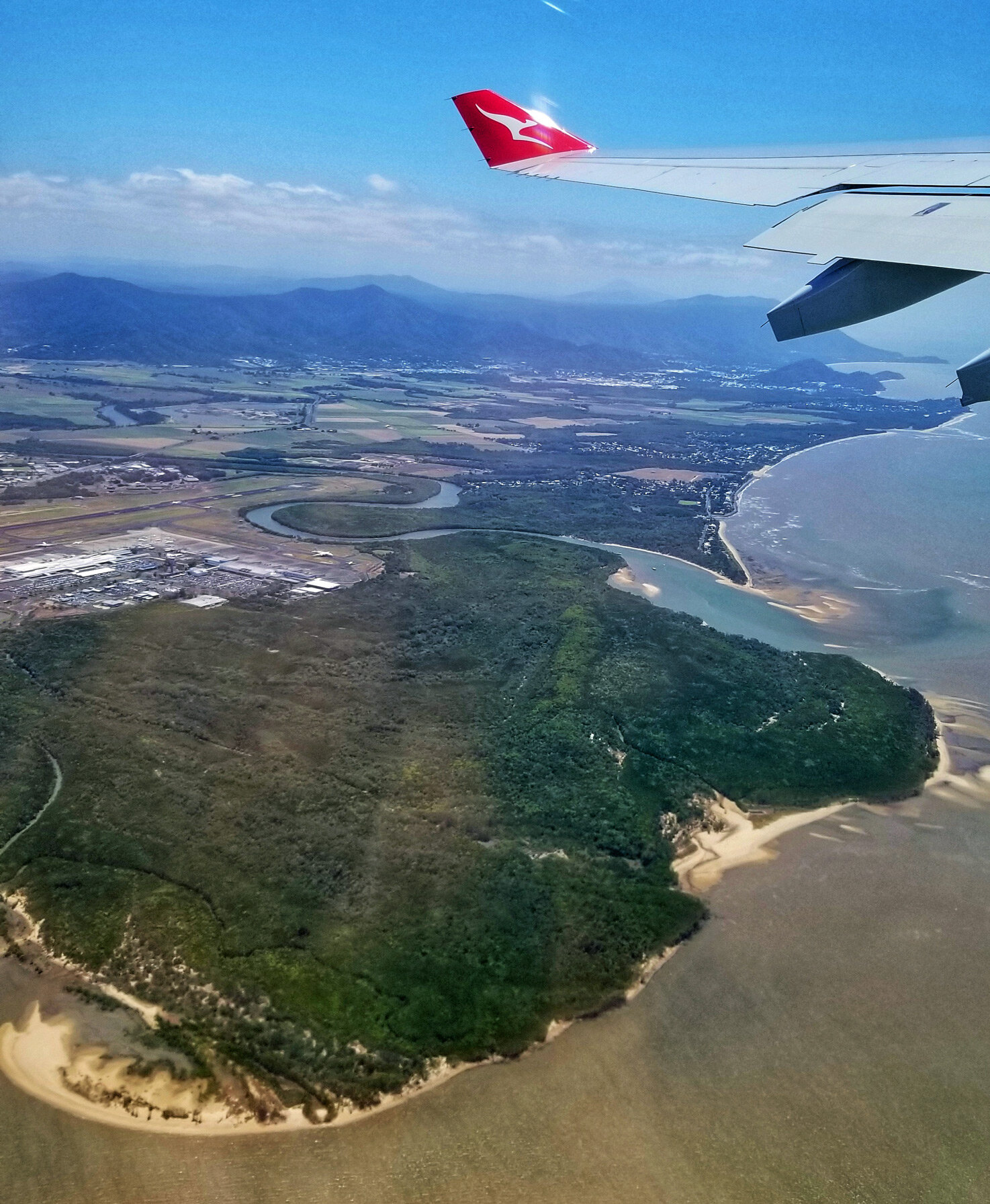 Departing Australia from Cairns.