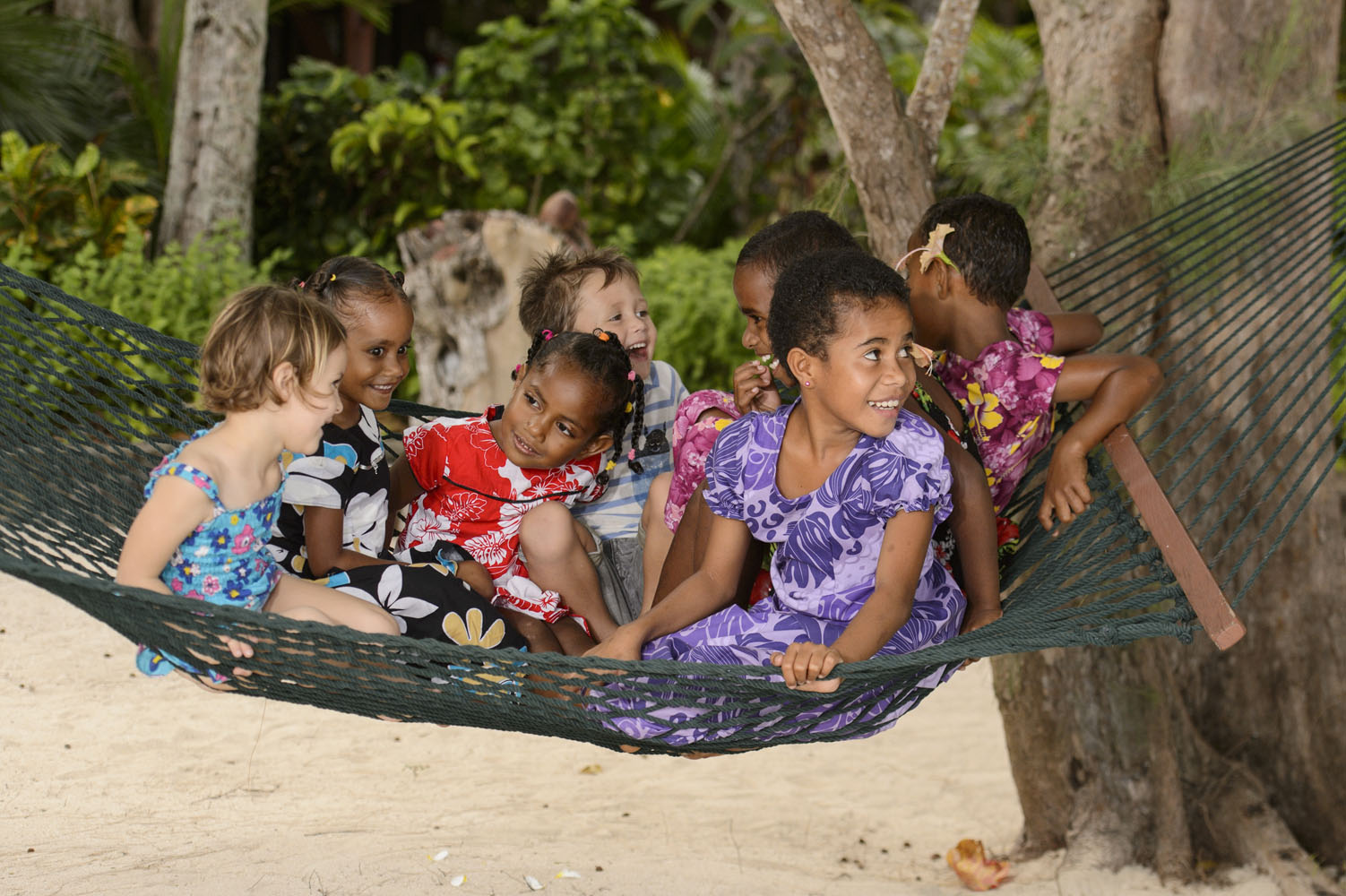 TurtleIsland-Family time-guest children playing with Fijian children.jpg