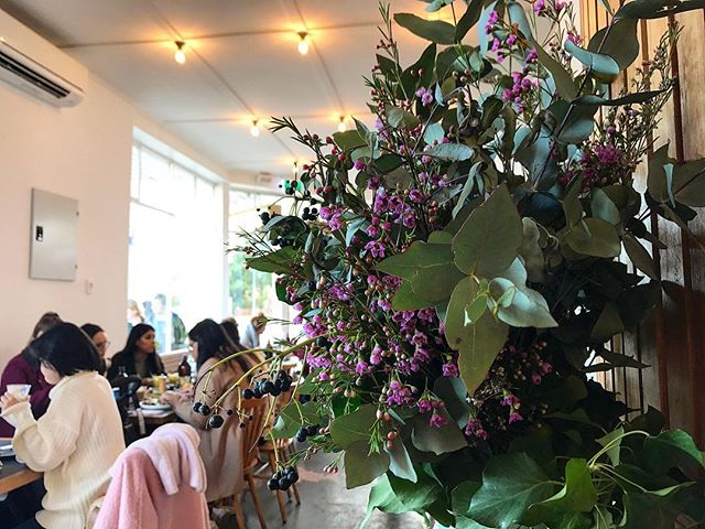 Mid afternoon coffee stops at @left__field make us happy and these flowers were too pretty not to capture 💐#flowersoftheday