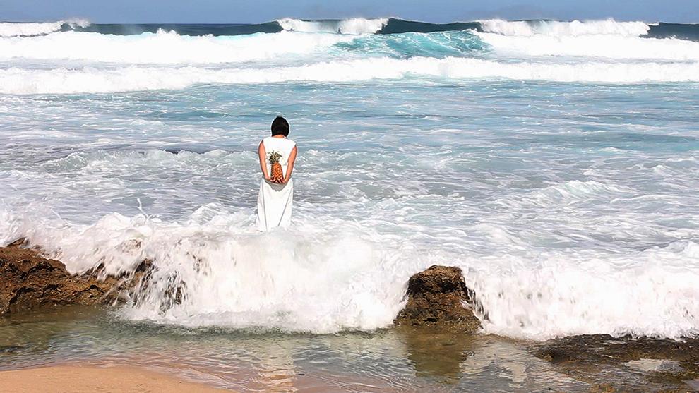 Departing Tide private performance, Kaena Point, Oahu, Hawai'i  2010