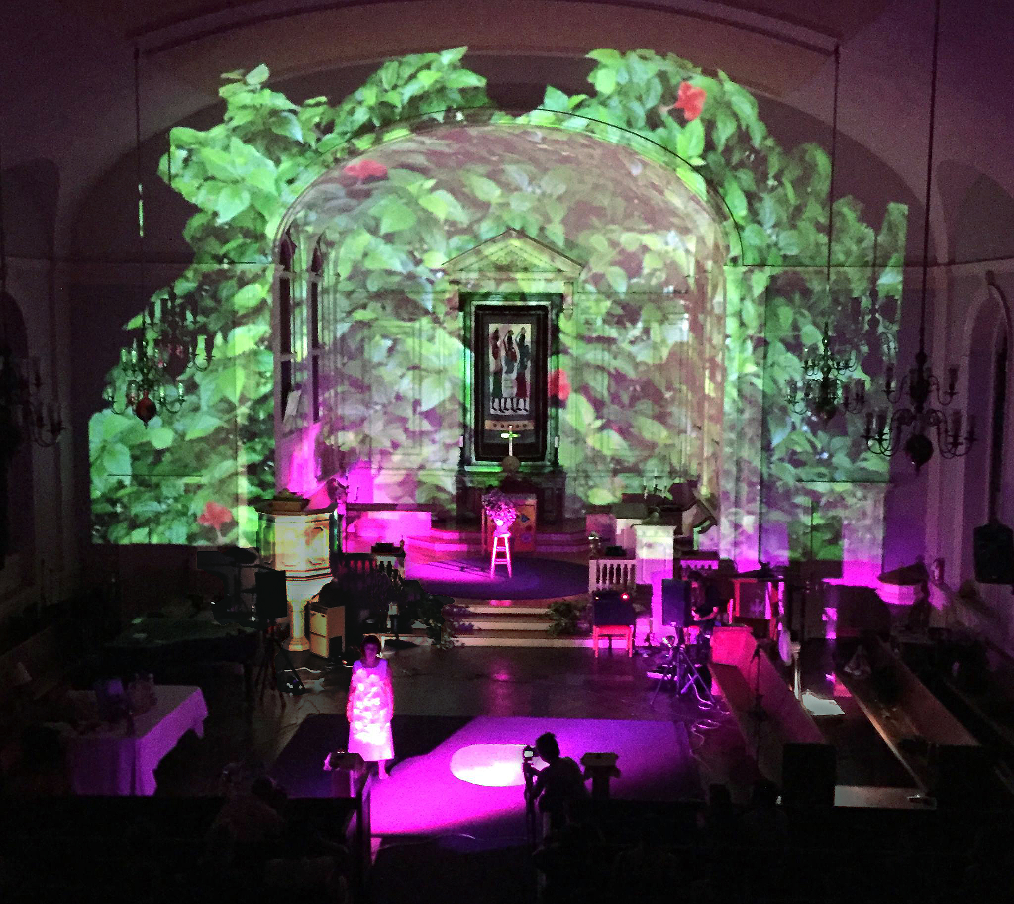 Dreamscape 16 at Hope Chapel Church in JP, Boston, MA August 11, 2018 Music and song deconstruction by Piotr Sapiezynski  Photos by Daniel Corral