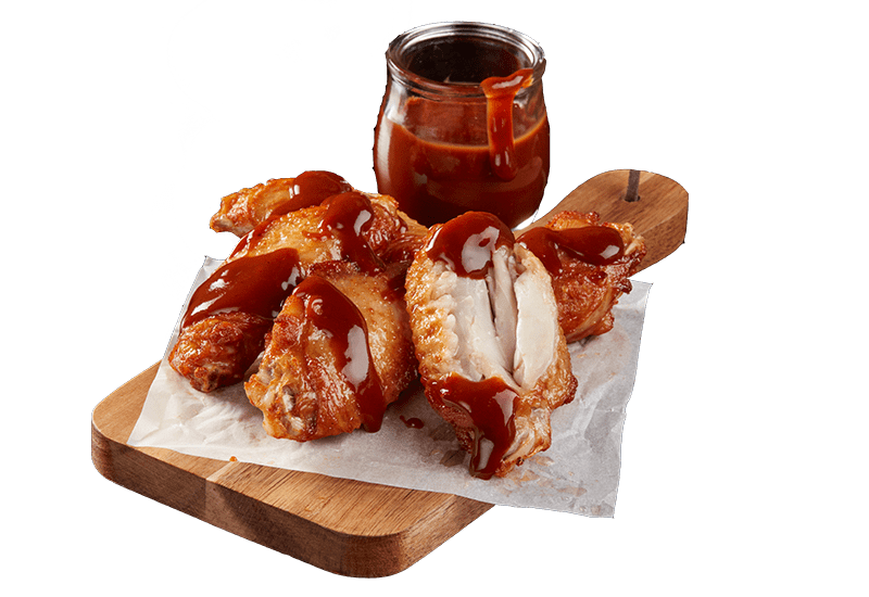 ROAST CHICKEN WINGS WITH BLAZIN' BBQ SAUCE -