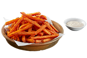 KUMARA FRIES - Sweet potato chips with tangy ranch sauce