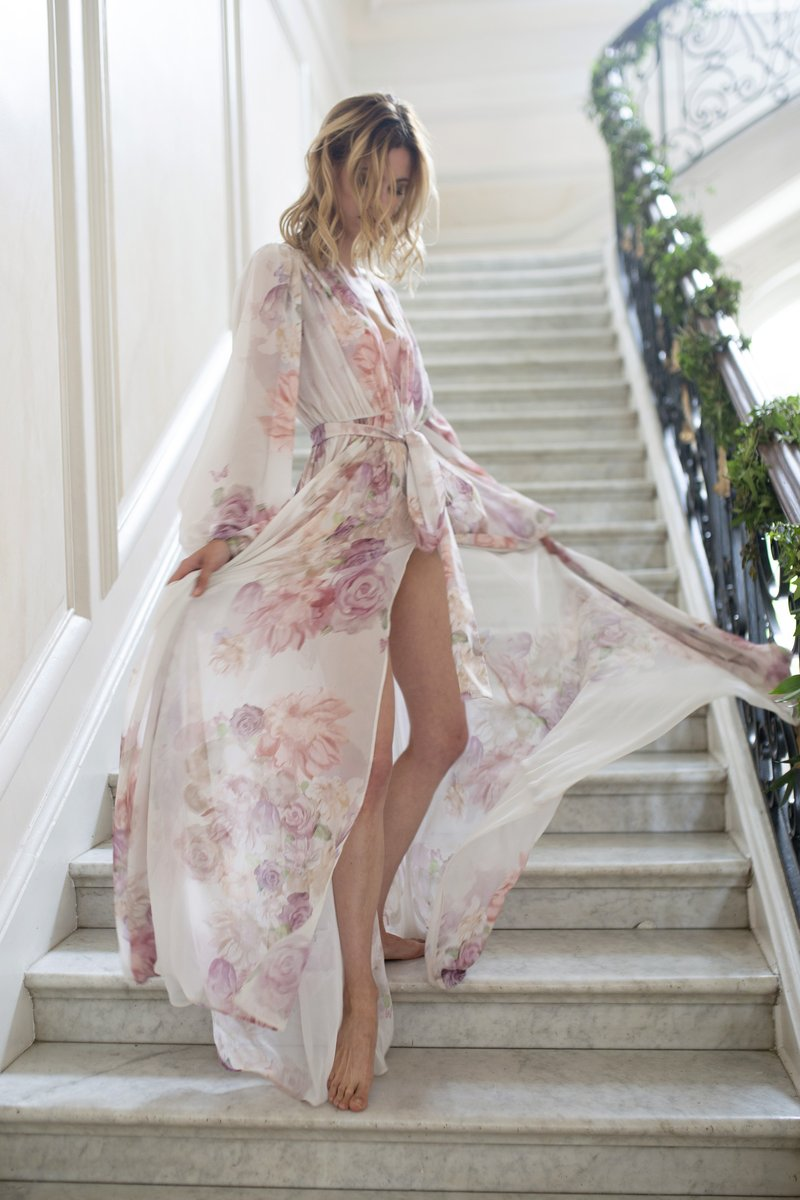 THE ANNABELLA BRIDAL ROBE IN GARDEN