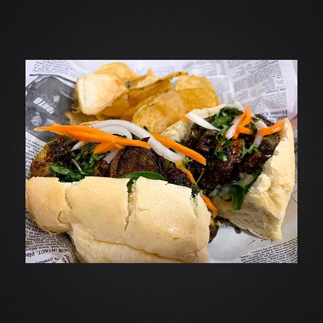 Good news for all our vegetarian friends! We have a special vegetarian bahn mi sandwich available!  Try this one and let us know if it is a keeper and we might put it on the regular menu.