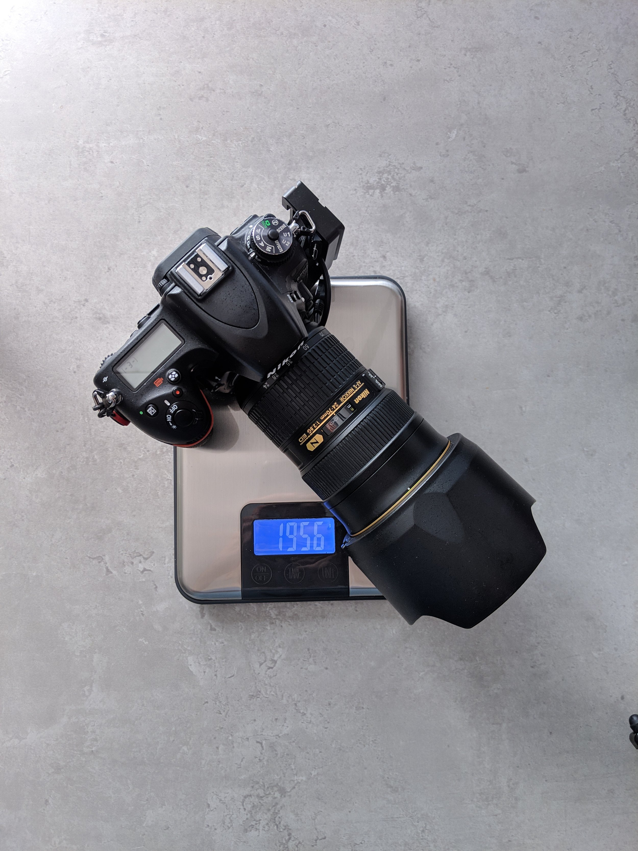 Nikon D750 weight with 24-70mm