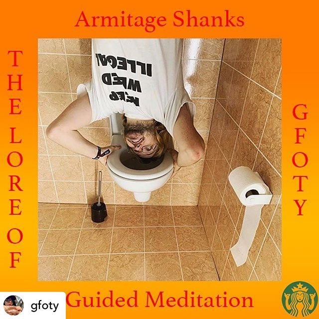 """@gfoty 15/16 LORE OF GFOTY get your tickets to some Guided Meditation with @shanks_armitage """"Experimental luthier 'Armitage Shanks' was the Inventor, founder and the leading distributor of the 'Water Organ'. His original vision was to provide each and every household in Britain with these ethereal aquatic sounds but was deeply misunderstood by his peers, 'Marchel Duchamp' and the general public. As an unintended consequence, these installations were soon usurped by their new holders as convenient transport for human waste out of the home.  In order to reeducate the world to the true beauty of these sonic installations, I 'Armitage Shanks' have reclaimed my great-great-great-grandfathers name and Legacy."""""""