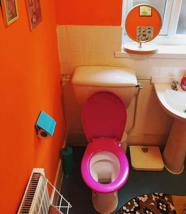A colourful little number sent in by @dj__jdwetherspoons #toiletcommunity #toiletsofinstagram #toilet #toilets