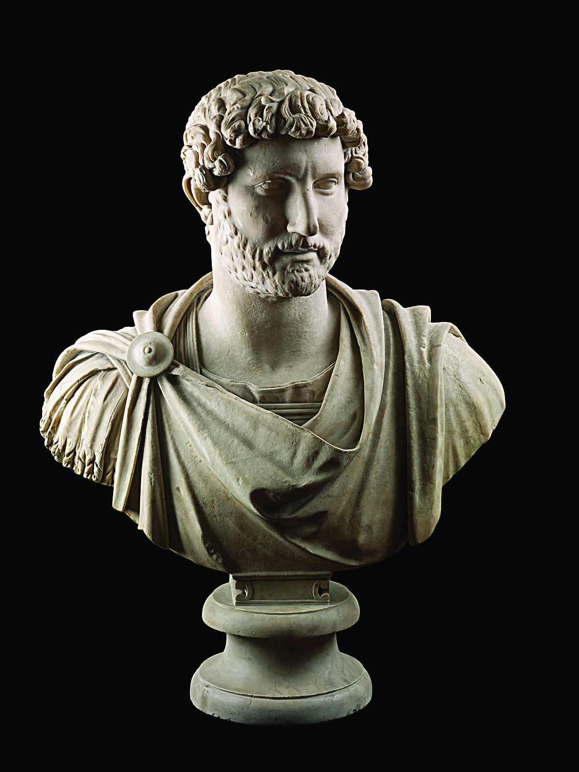 Portrait bust of Hadrian  Hadrian's Villa, Tivoli, Italy, about 125–130 CE marble. 1805,0703.95  © Trustees of the British Museum, 2018. All rights reserved