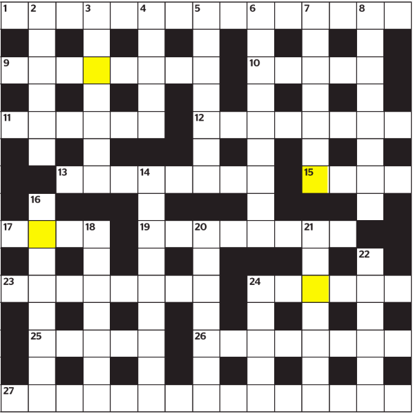 Today's grid - Here is the coloured grid for those completing the crossword on the iPad app on July 15, 2019.Love LR crosswords? Subscribe to PuzzleMail for $1.99/week. Four pages of puzzles, sent each Thursday morning. Learn more