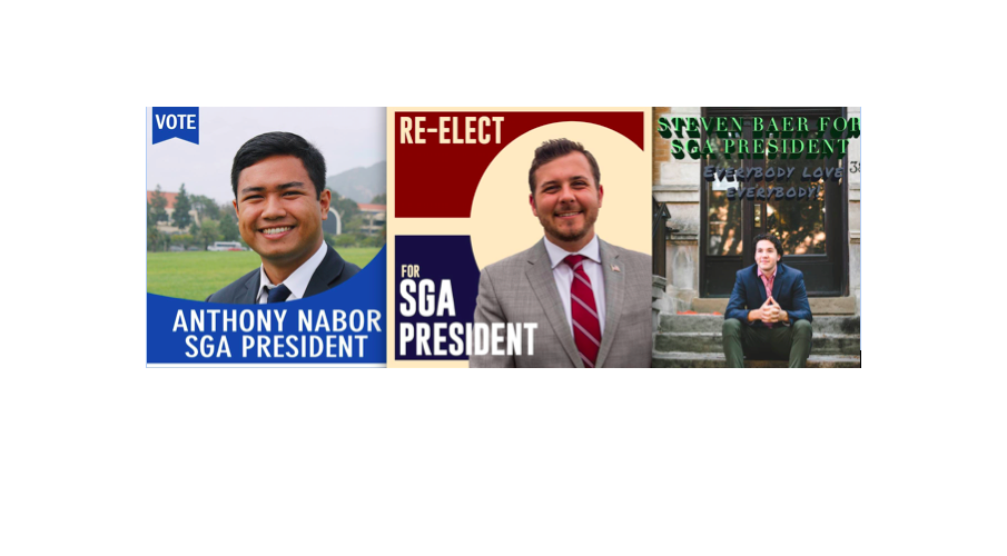 Candidates for SGA President Discuss Their Goals - Photos Courtesy of Steven Baer, Austin Welch, and Anthony NaborJunior Steven Baer is running for SGA president. He's also couch surfing.