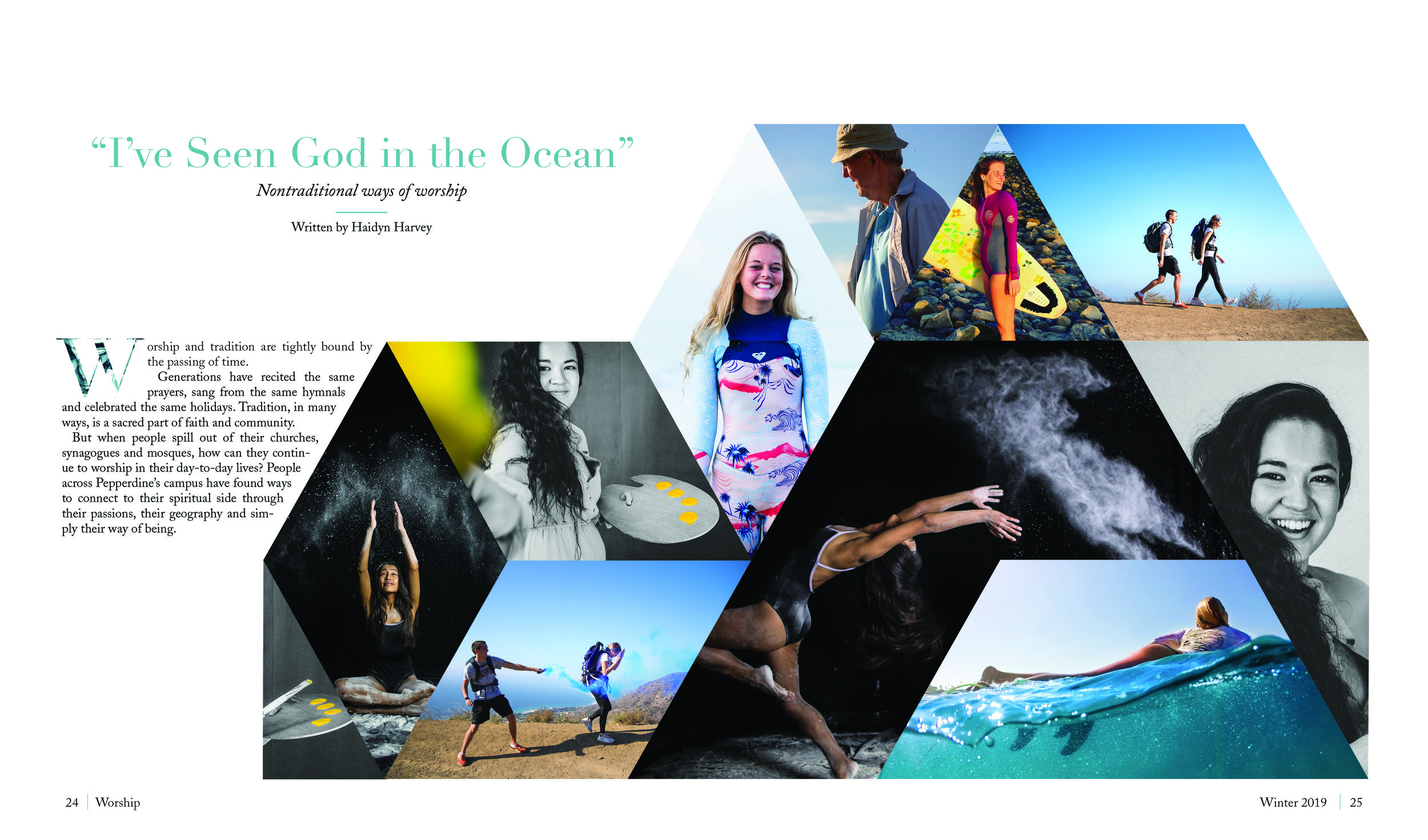 """Read my series """"I've Seen God in the Ocean"""" on nontraditional worship, featuring the stories below.   Currents Fall 2018"""