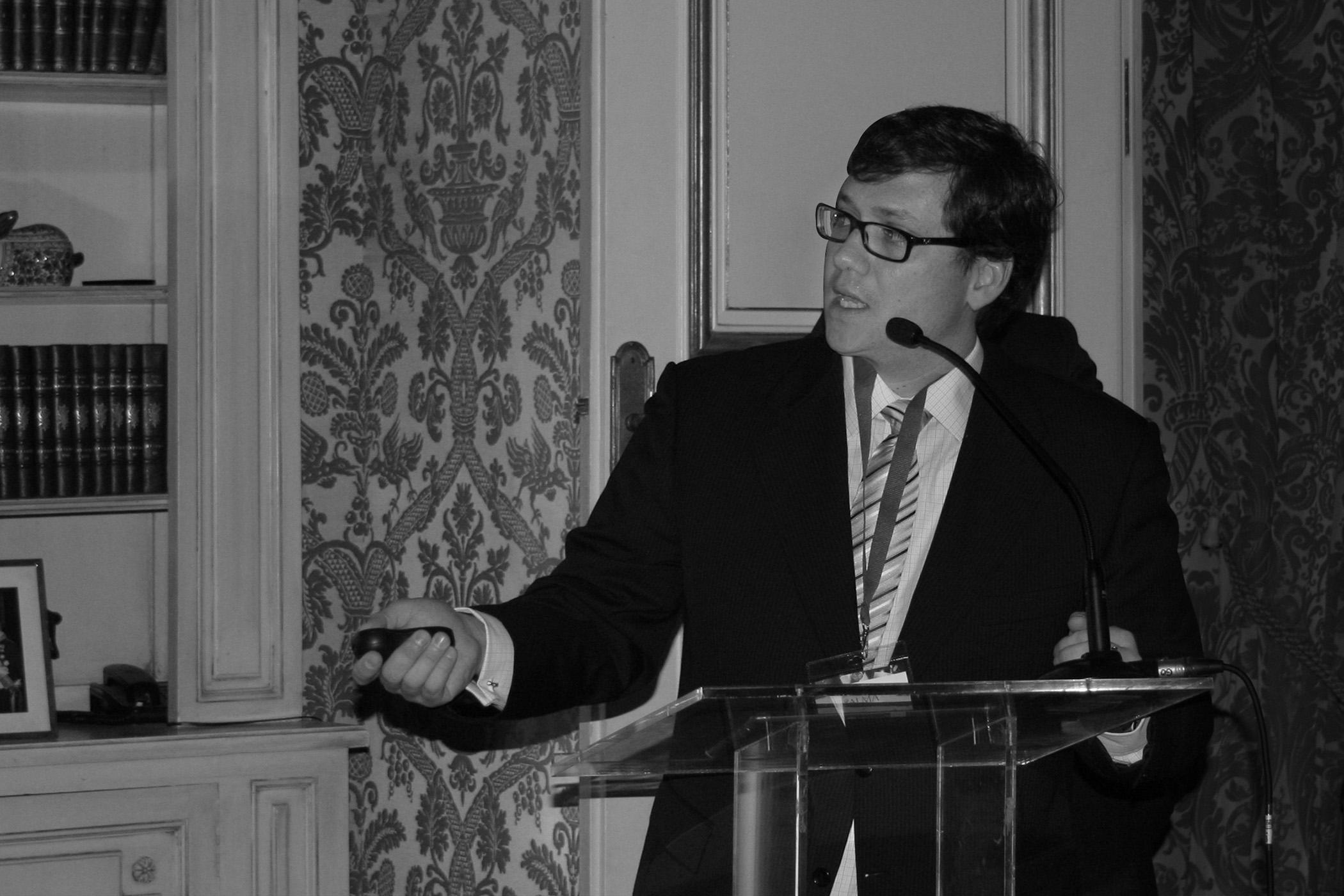 Presentando los resultados del barómetro de la innovación, realizado por Alma Consulting Group (Ayming). En la Casa del Embajador de Francia -