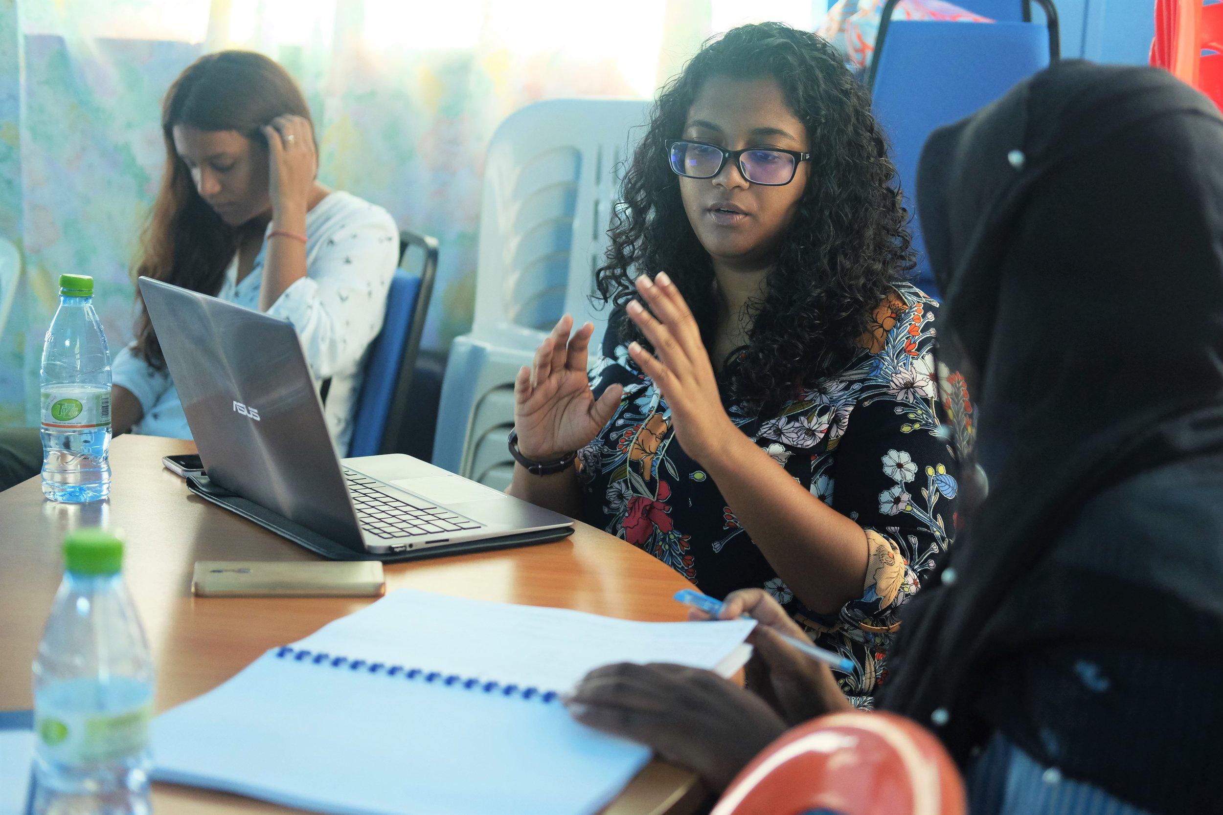 Yasmine Shamaal answering a participants question.jpg