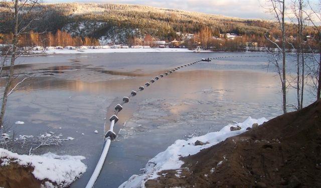 Utlegging av helsveiset pe-sjøledning forsterkning av vannforsyning til Rena syd.