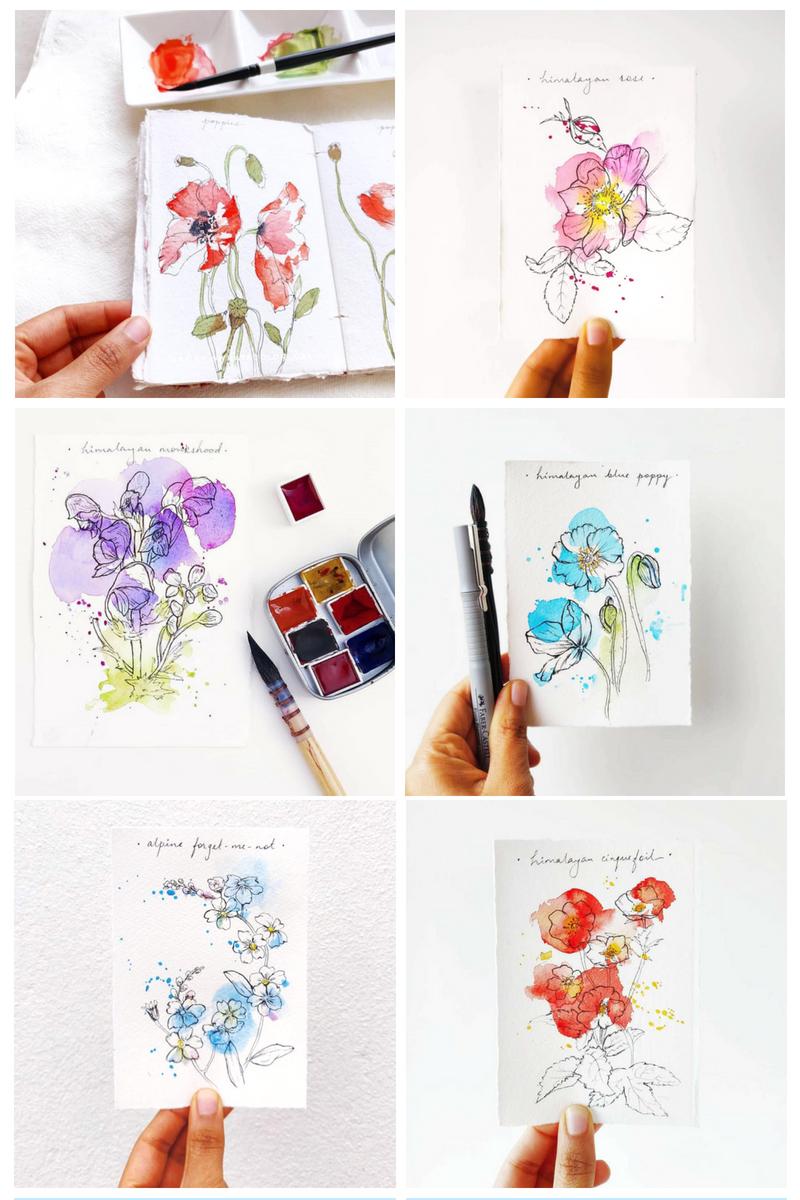 Never Stop Learning, Painting with Trupti Karjinni, Artist Spotlight for Color Crush Creative Kellee Wynne Studios 20.jpg