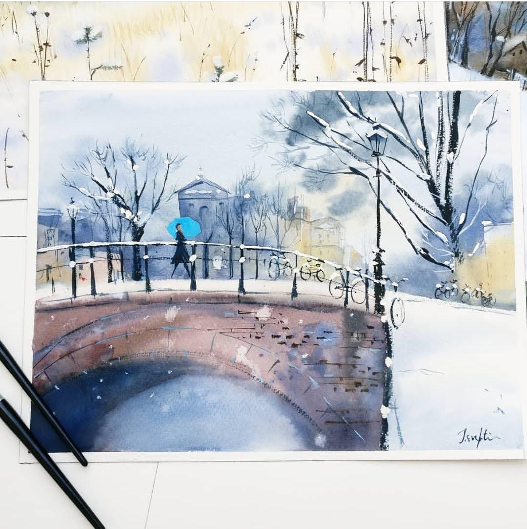 Never Stop Learning, Painting with Trupti Karjinni, Artist Spotlight for Color Crush Creative Kellee Wynne Studios 24.jpg