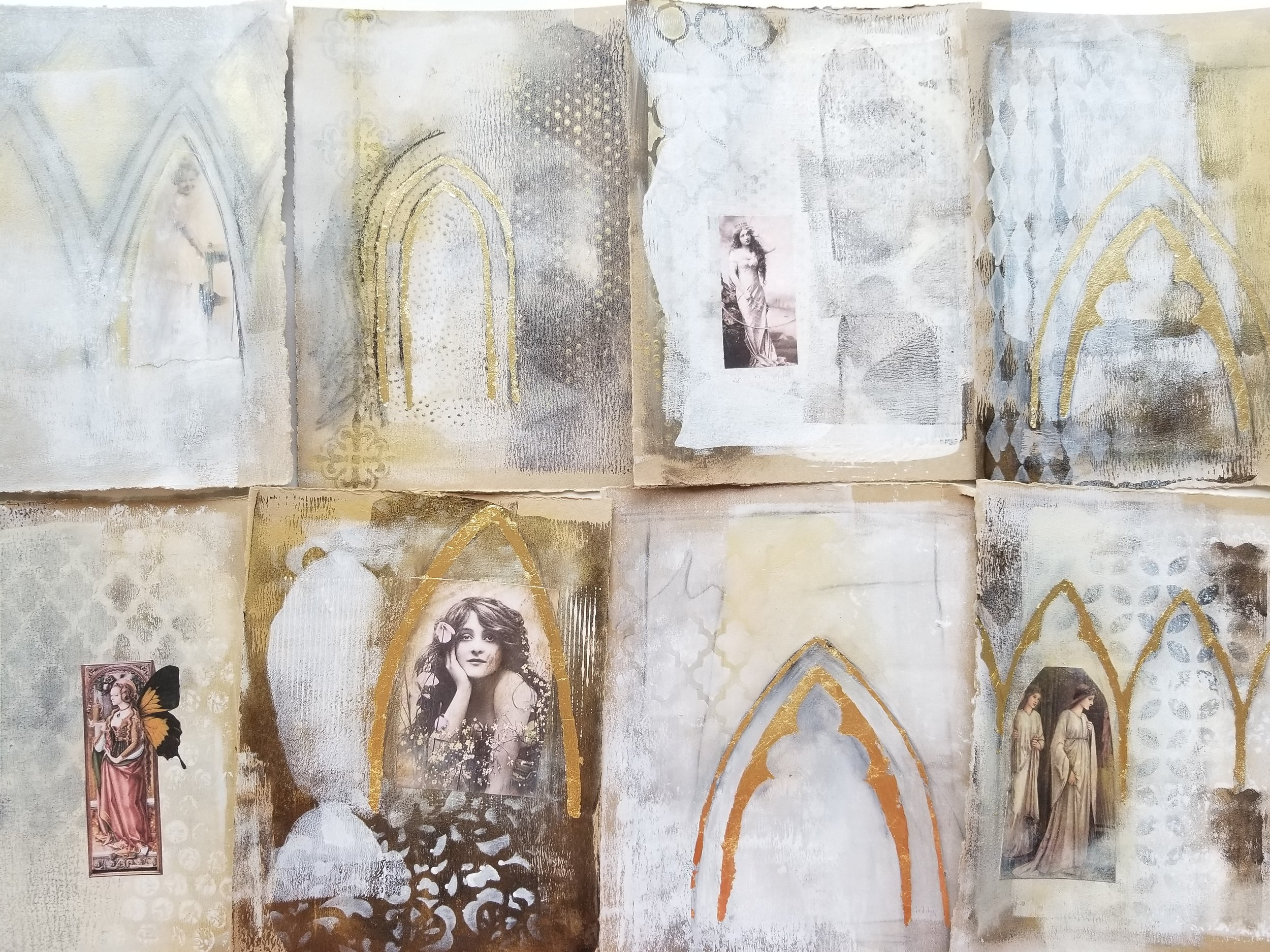 Timeless Arches, mixed media workshop with Kellee Wynne Studios 11.jpg