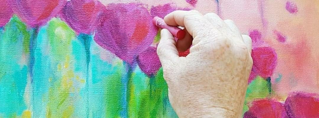 Kellee Wynne Studios True Colors Acrylic Painting  - Abstract Florals workshop 9 (2).jpg