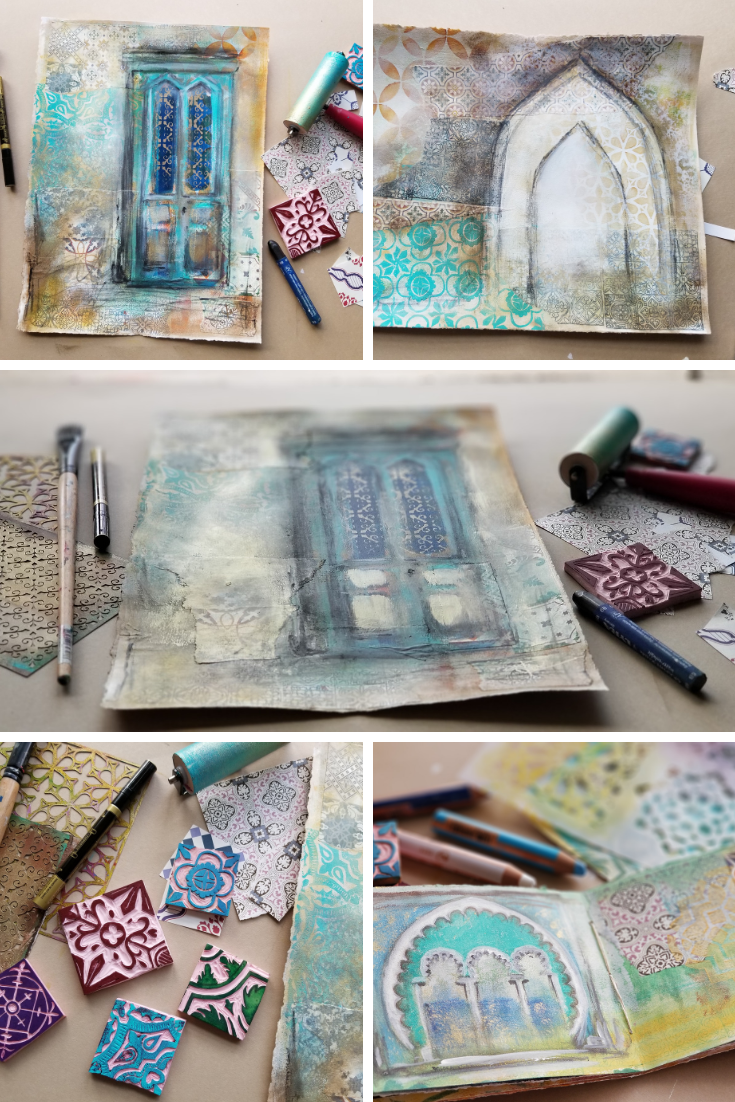 Patterns of Portugal Mixed Media Class by Kellee Wynne Studios.png