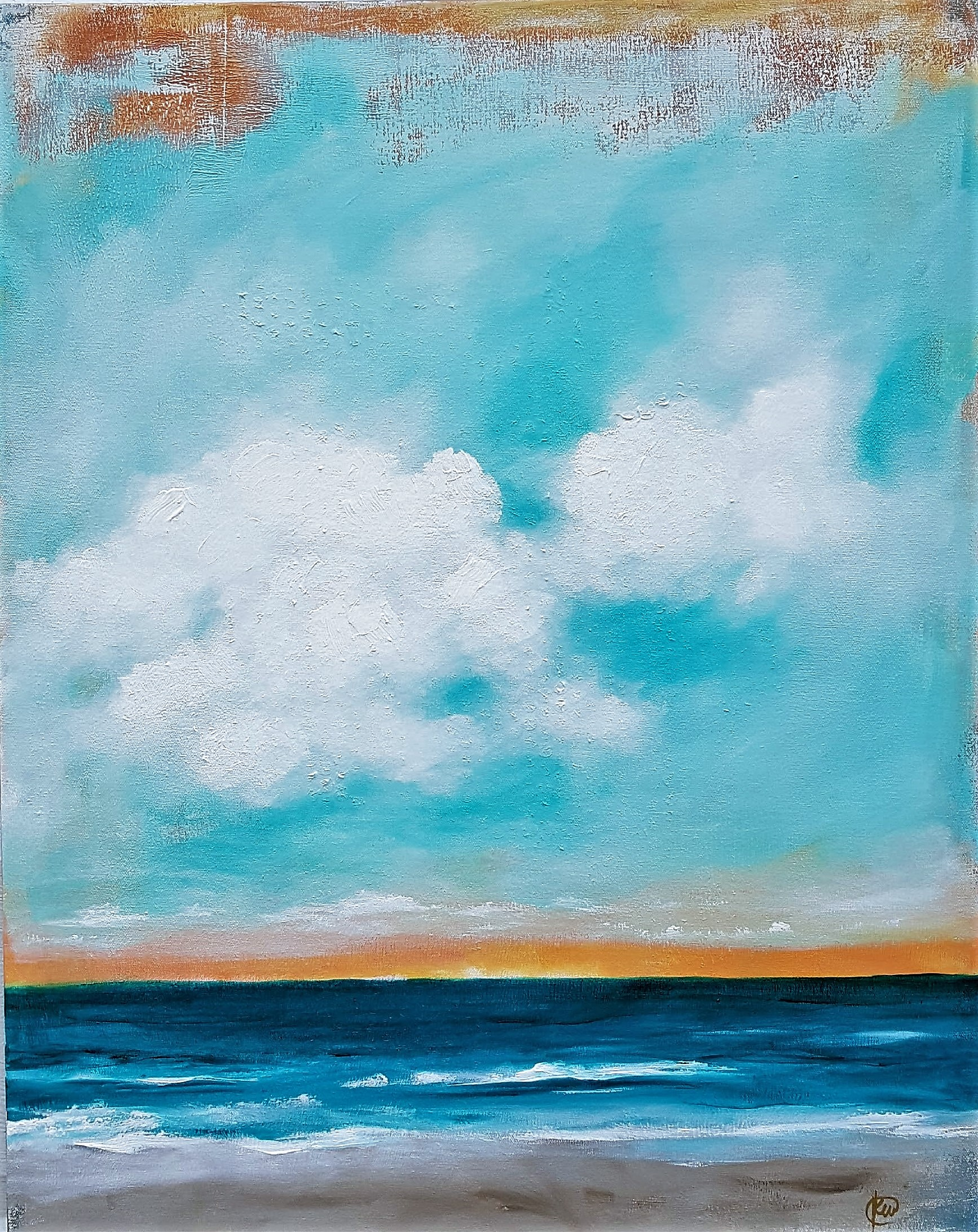Kellee Wynne Conrad, contemporary landscape, seascape acrylic and mixed media on canvas Island Time.jpg