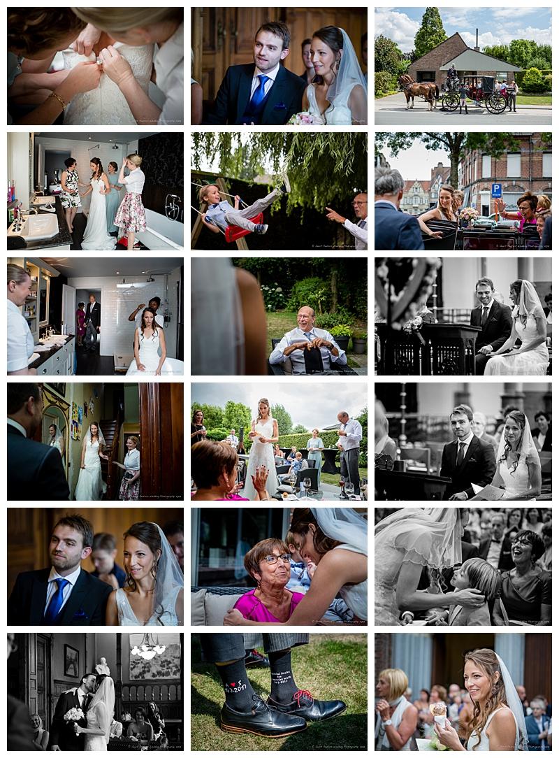 Kasteel d' Aertrycke Torhout trouw bruid en bruidegom foto