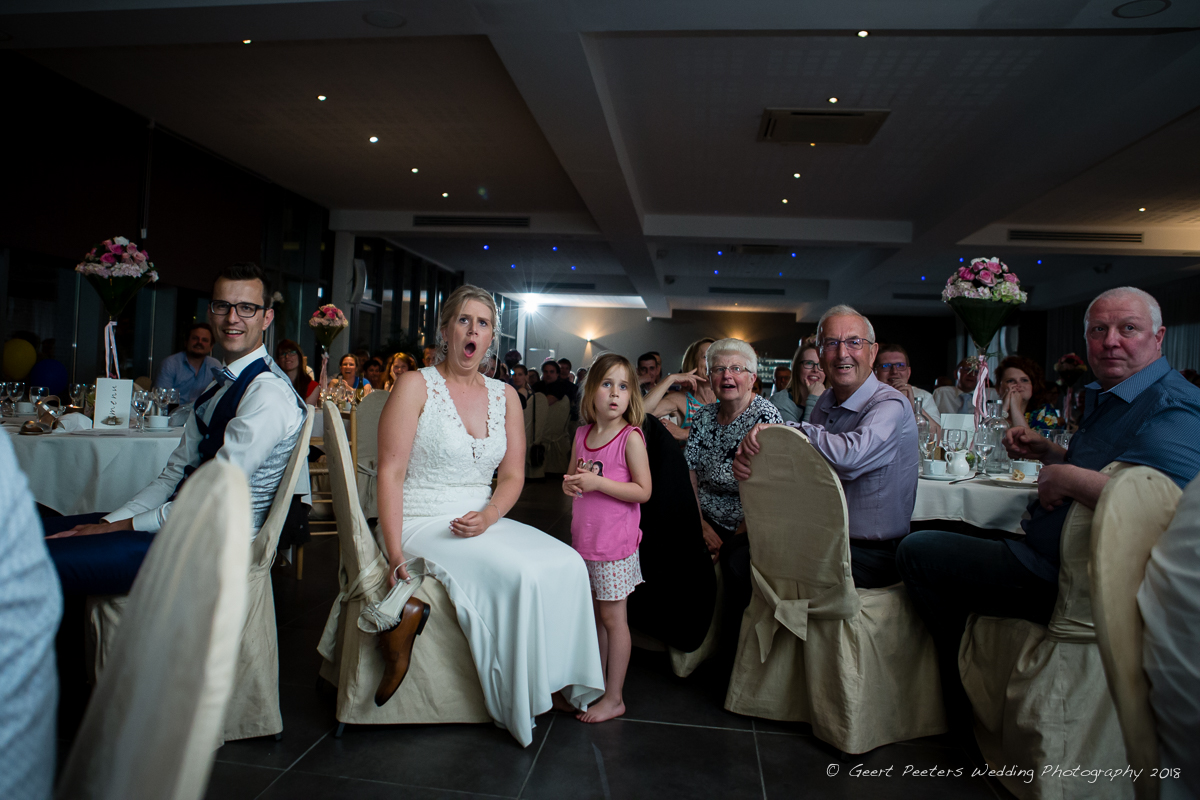 Hof ven Beatrijs Lier trouw avondfeest bruid en bruidegom foto