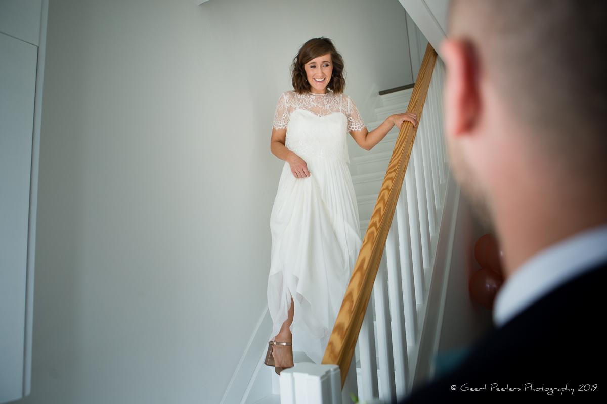 first look bruid en bruidegom