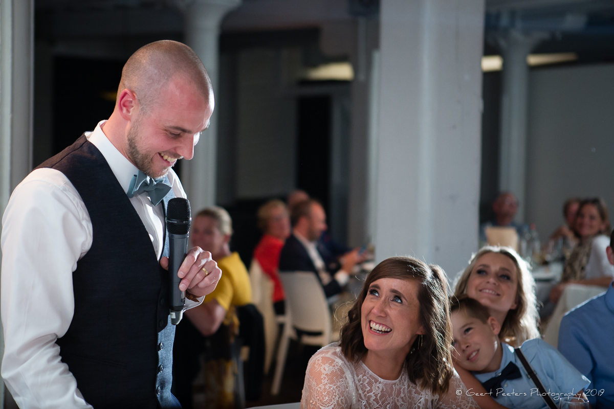 trouw avondfeest speech bruidegom Felix pakhuis Antwerpen