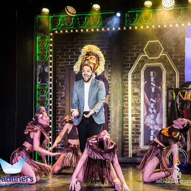 Some fantastic  production shots from 'Applause!' by Headliners for @pandocruises. Lion head dress built by us.  Images thanks to @archersharpdesign,  Costume design by @jodie.freeman  #lion #costume #costumeprops #costumemaking #headdress #headwear #foampatterning #sculpture #props #onstage #theatre #cruiseship #cruise #entertainment #leviathanworkshop #pando #musical #musicals #whatcanwemakeforyou