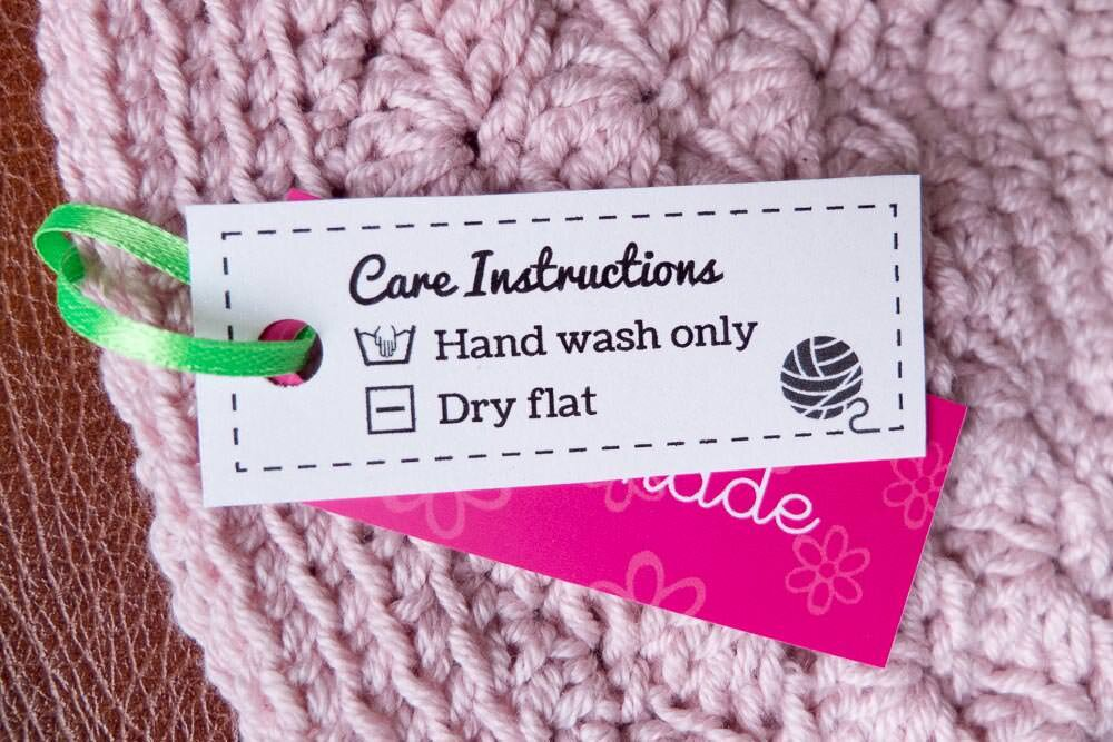 Free laundry care labels