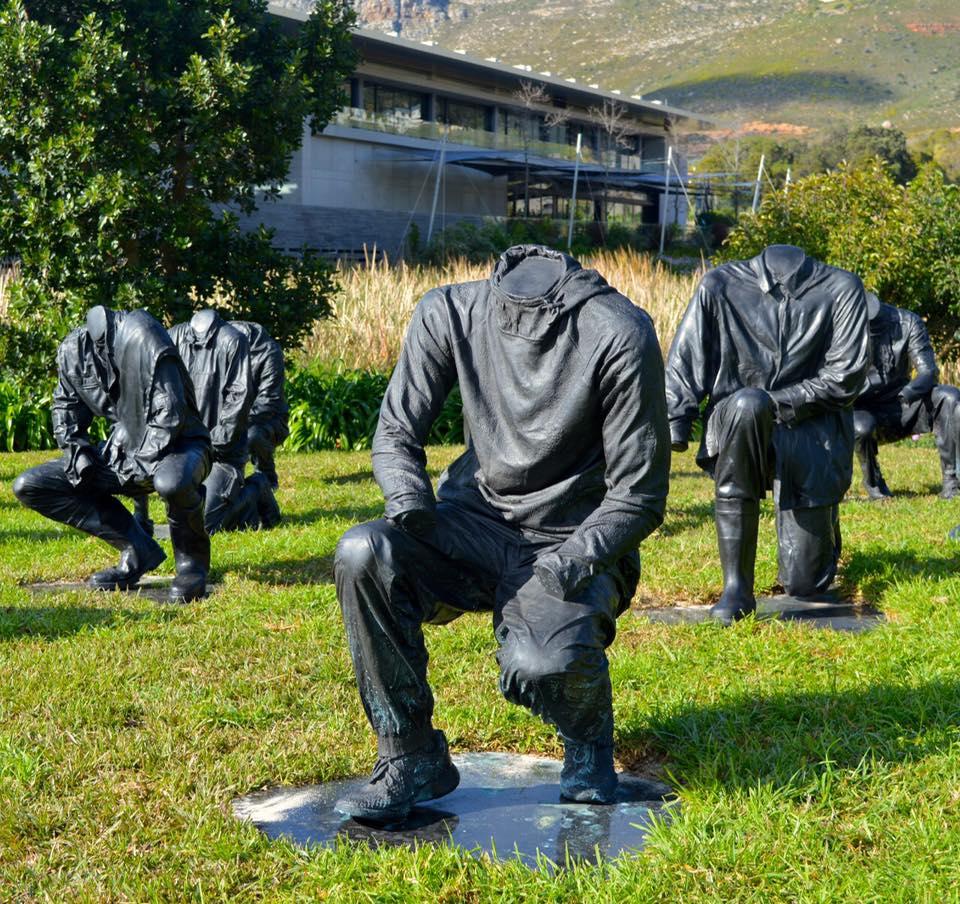 The sculpture garden