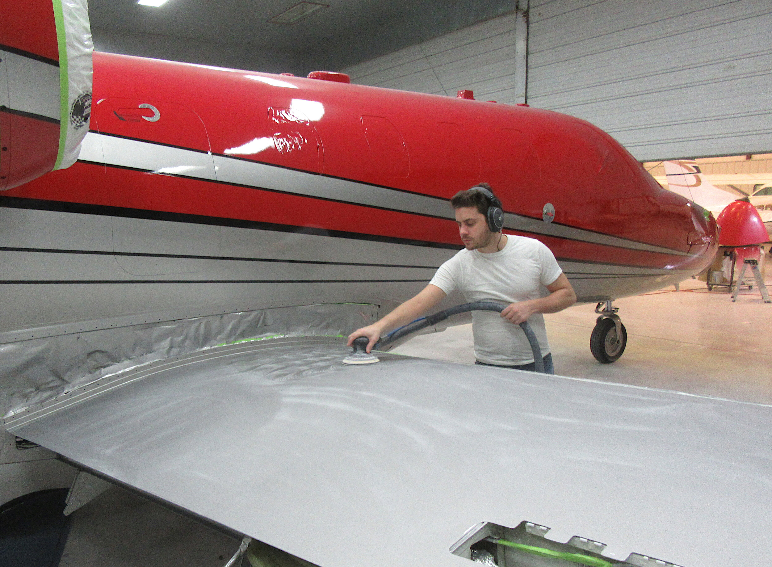 7. Extra Services - A. Pro-SealB. Wetsand & BuffC. InteriorD. Fiberglass RepairsE. Sheet Metal RepairsF. Install WindowsG. Re-Condition De-Icing BootsH. Replace Raydome / PPF Film