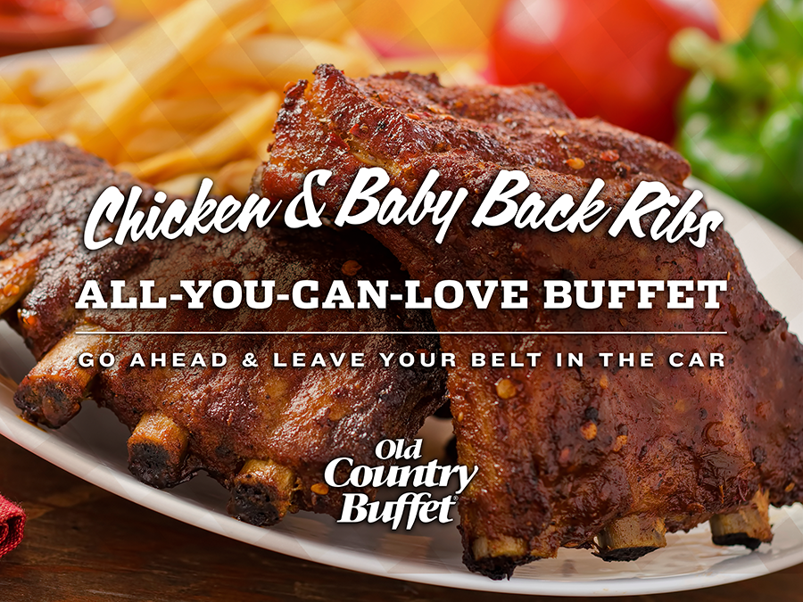 OLD COUNTRY BUFFET - Chicken & Ribs Promotion