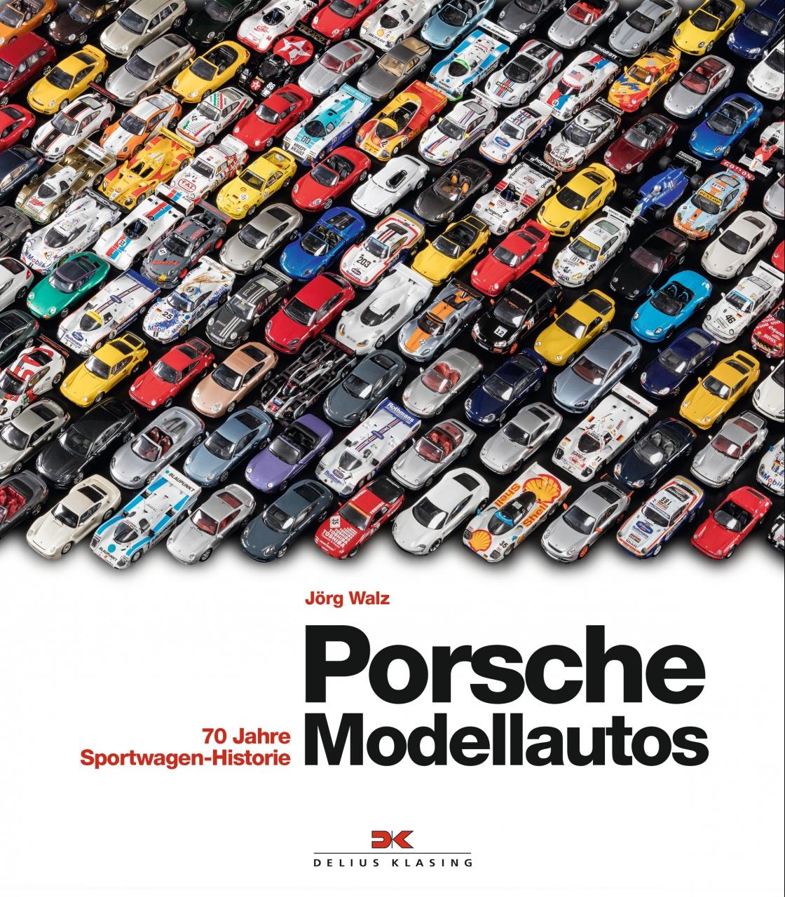 """Die JÖRG WALZ COLLECTION ist in Anlehnung an das Buch  """"Porsche Modellautos – 70 Jahre Sportwagen-Historie""""  entstanden, das 2017 im Delius Klasing Verlag erschienen ist."""