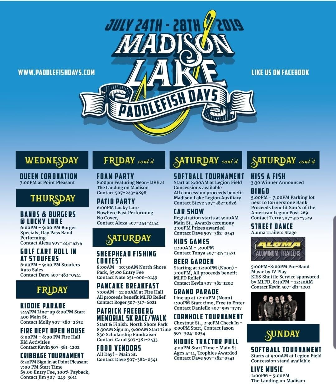 Paddlefish Days — Madison Lake Area Chamber of Commerce