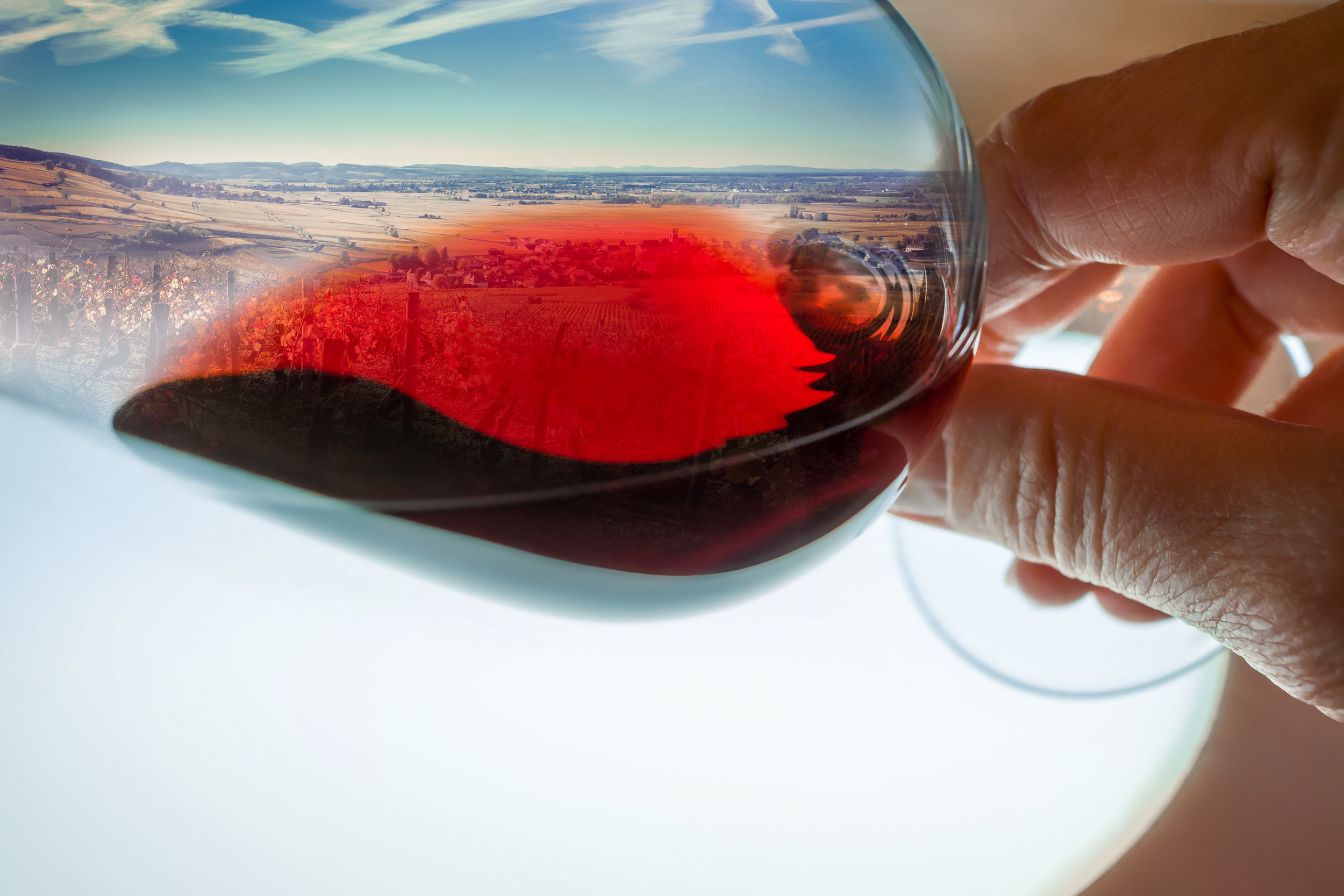 What is the sense of place wine captures and creates?