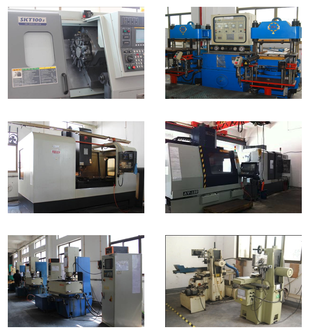 LIM/LSR & Compression /Transfer Rubber Tooling - 2,000 M2 building area6 office staff, 25 workers5-Axis CNC 1 unitCNC 3 unitsEDM 5 unitsSurface grinding 2 unitsMilling 8 unitsCNC lathe 1 unitDrilling 1 unit250 units tooling capacity per year