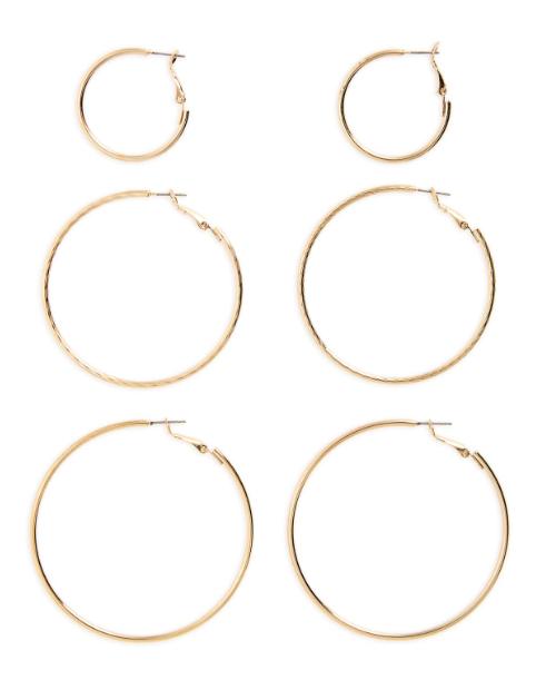 Slim gold hoop earrings